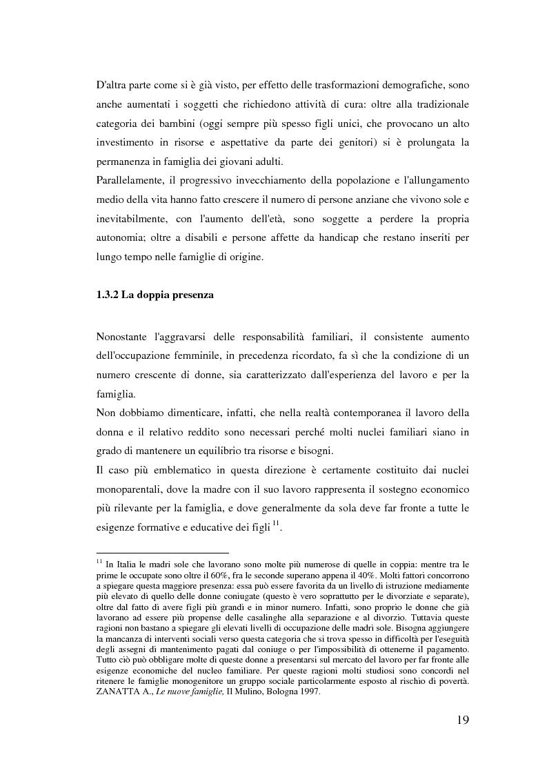 Anteprima della tesi: Donne extracomunitarie nel settore dell'assistenza domiciliare. Un progetto pilota per il loro inserimento socio-lavorativo, Pagina 15
