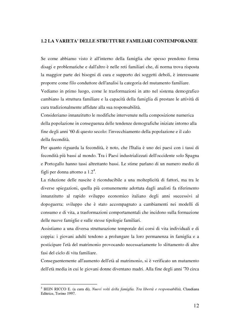 Anteprima della tesi: Donne extracomunitarie nel settore dell'assistenza domiciliare. Un progetto pilota per il loro inserimento socio-lavorativo, Pagina 8