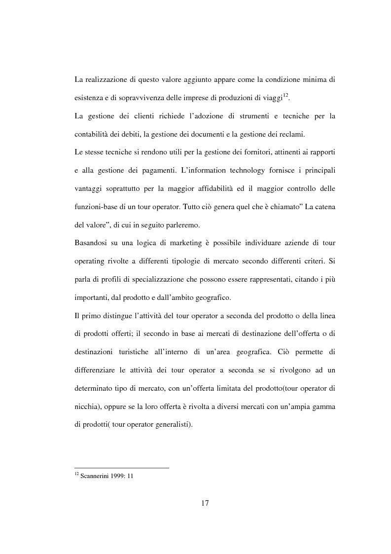 Anteprima della tesi: Sviluppo sostenibile e strategia del valore delle aziende di tour operating, Pagina 14