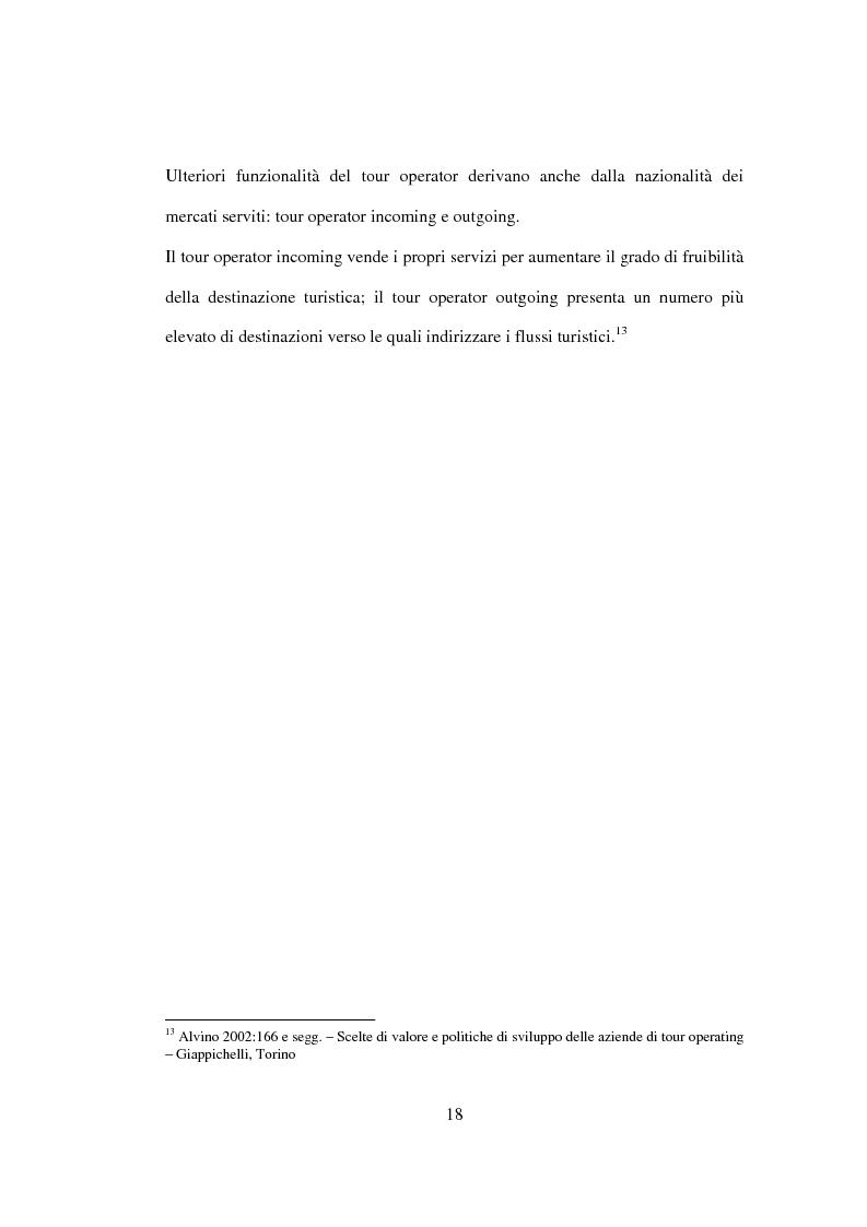 Anteprima della tesi: Sviluppo sostenibile e strategia del valore delle aziende di tour operating, Pagina 15