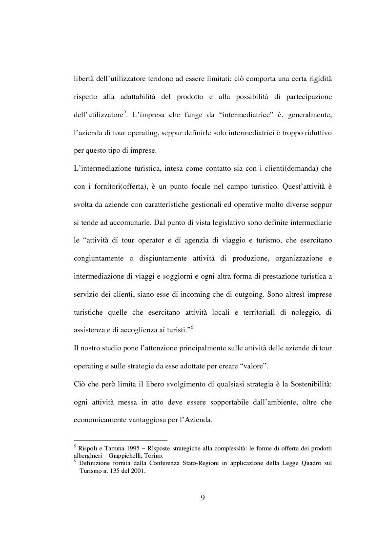 Anteprima della tesi: Sviluppo sostenibile e strategia del valore delle aziende di tour operating, Pagina 6
