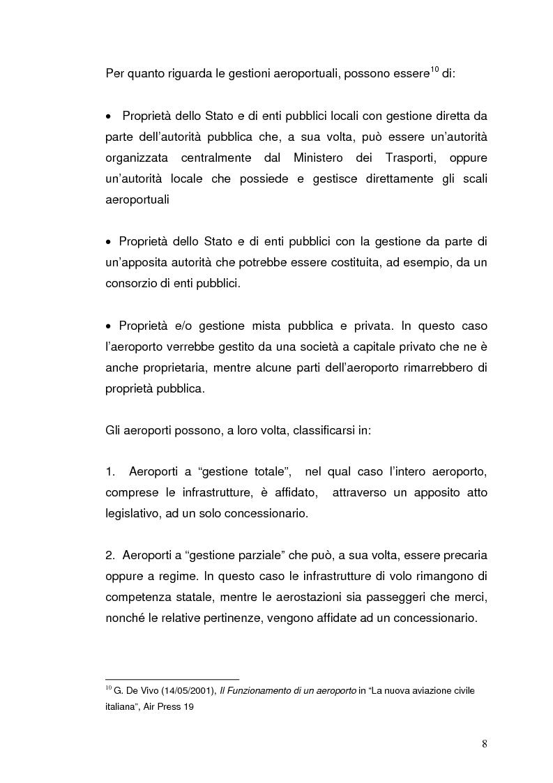 Anteprima della tesi: Strategie concorrenziali nell'handling aeroportuale: il caso Alitalia Airport, Pagina 12