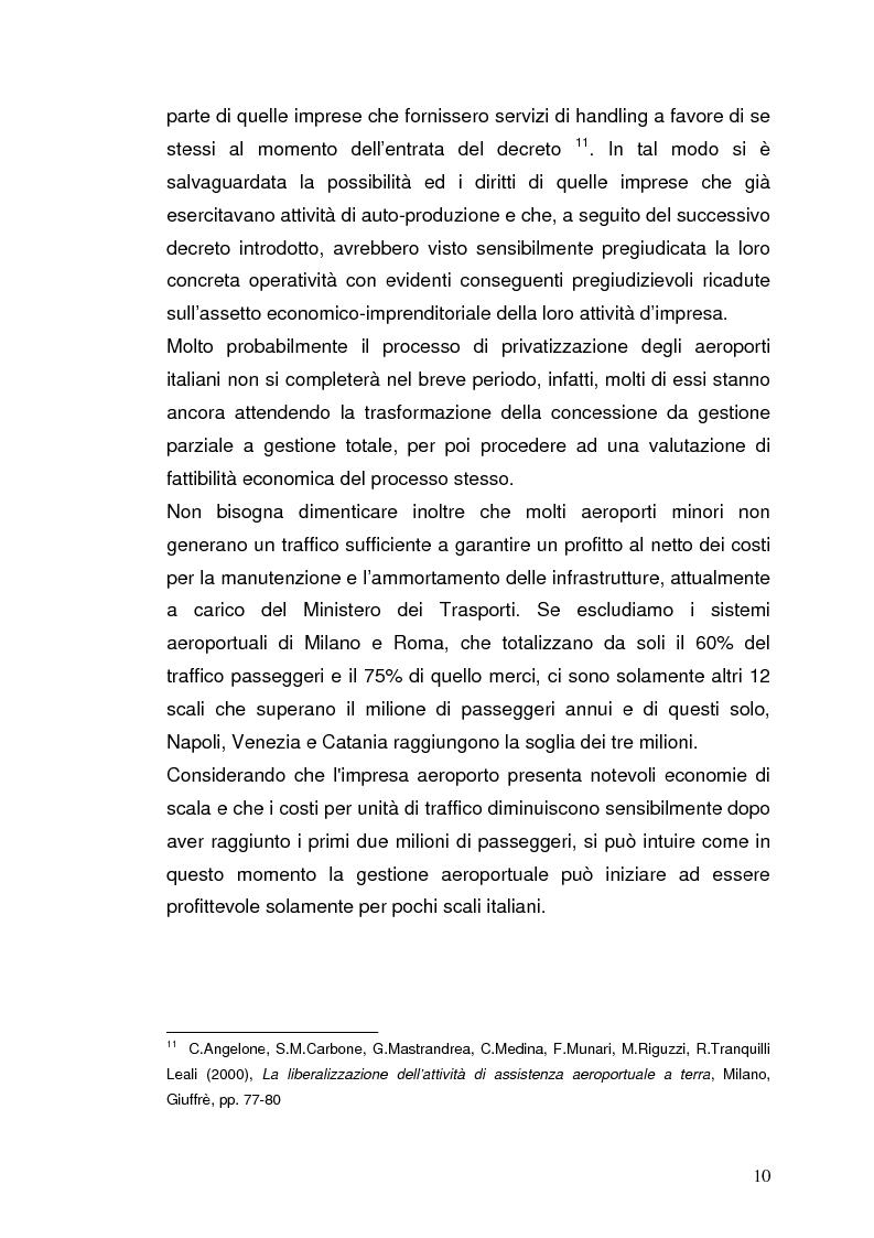 Anteprima della tesi: Strategie concorrenziali nell'handling aeroportuale: il caso Alitalia Airport, Pagina 14