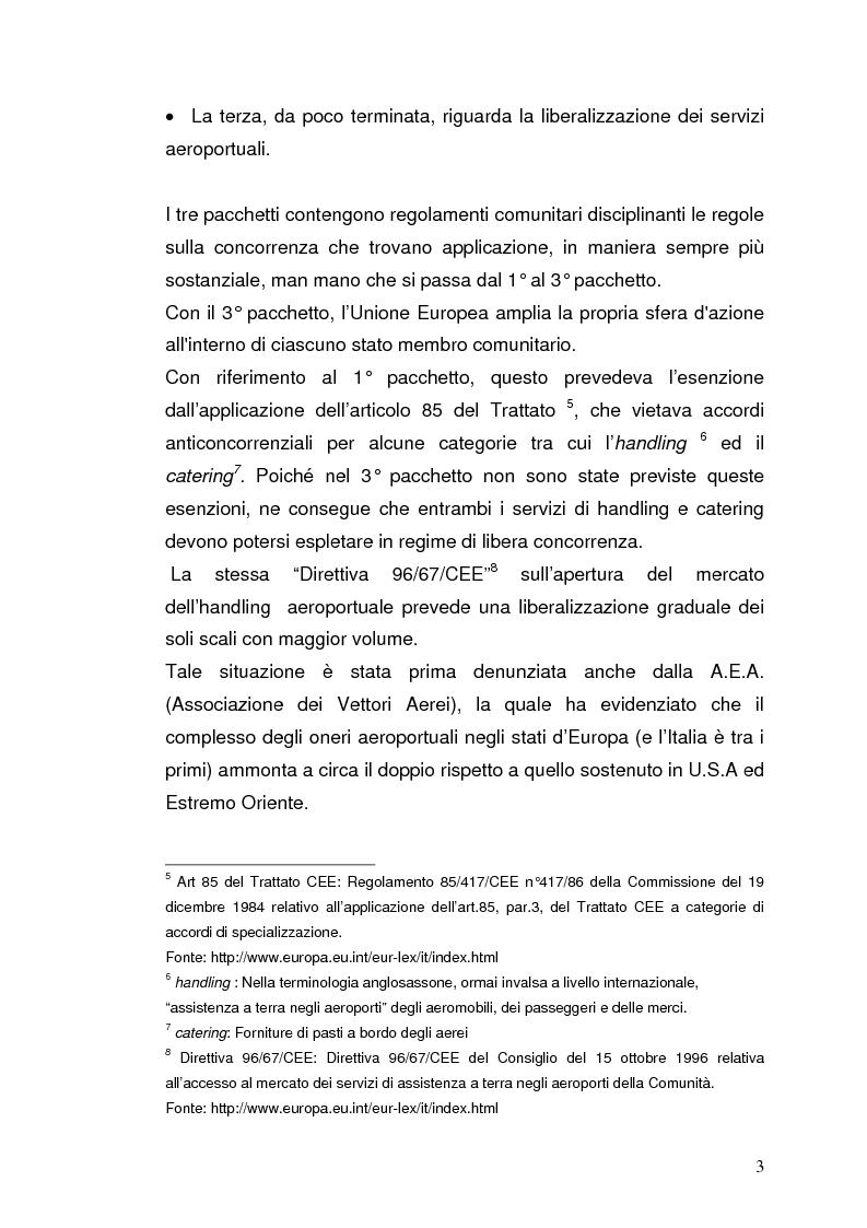 Anteprima della tesi: Strategie concorrenziali nell'handling aeroportuale: il caso Alitalia Airport, Pagina 7