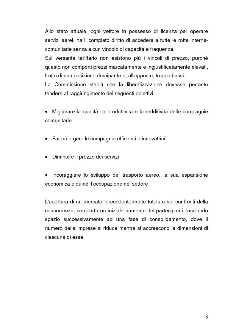 Anteprima della tesi: Strategie concorrenziali nell'handling aeroportuale: il caso Alitalia Airport, Pagina 9