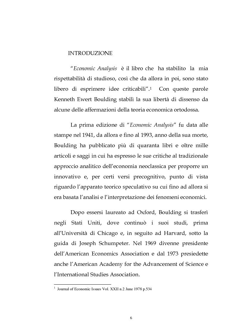 Anteprima della tesi: Kenneth Ewert Boulding e l'analisi economica del XX secolo: evoluzione, ordine, complessità, Pagina 1