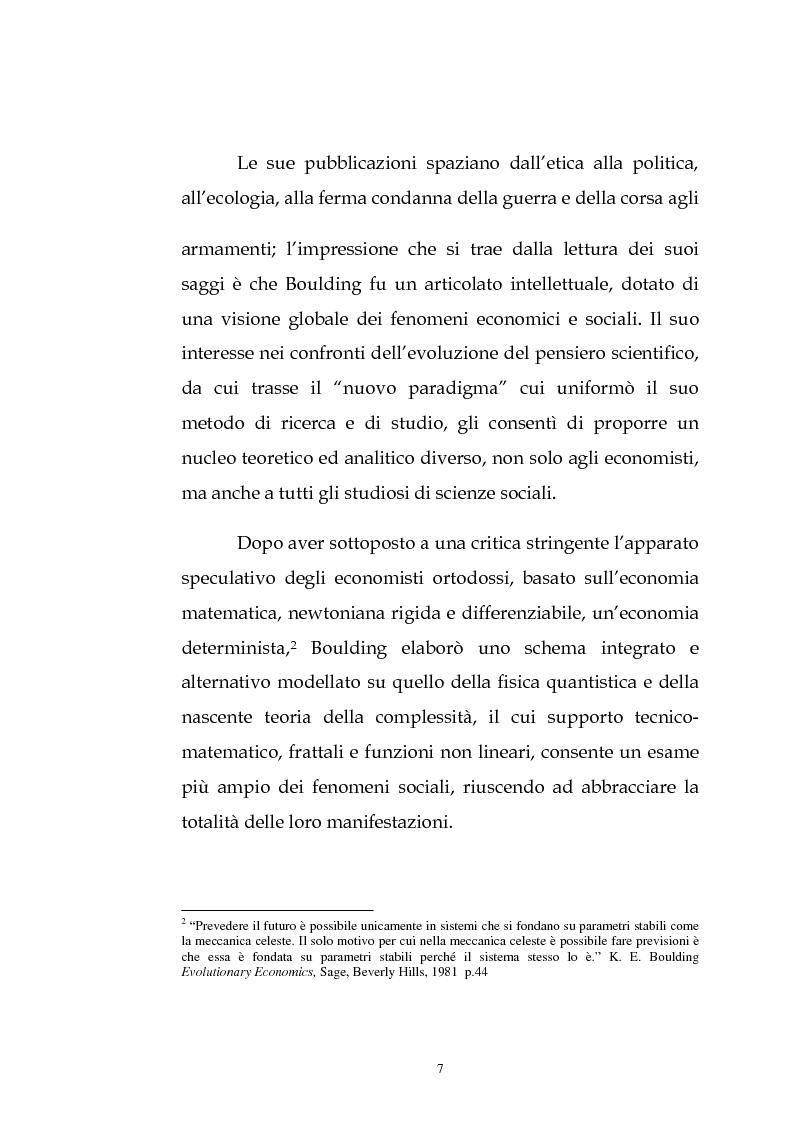 Anteprima della tesi: Kenneth Ewert Boulding e l'analisi economica del XX secolo: evoluzione, ordine, complessità, Pagina 2