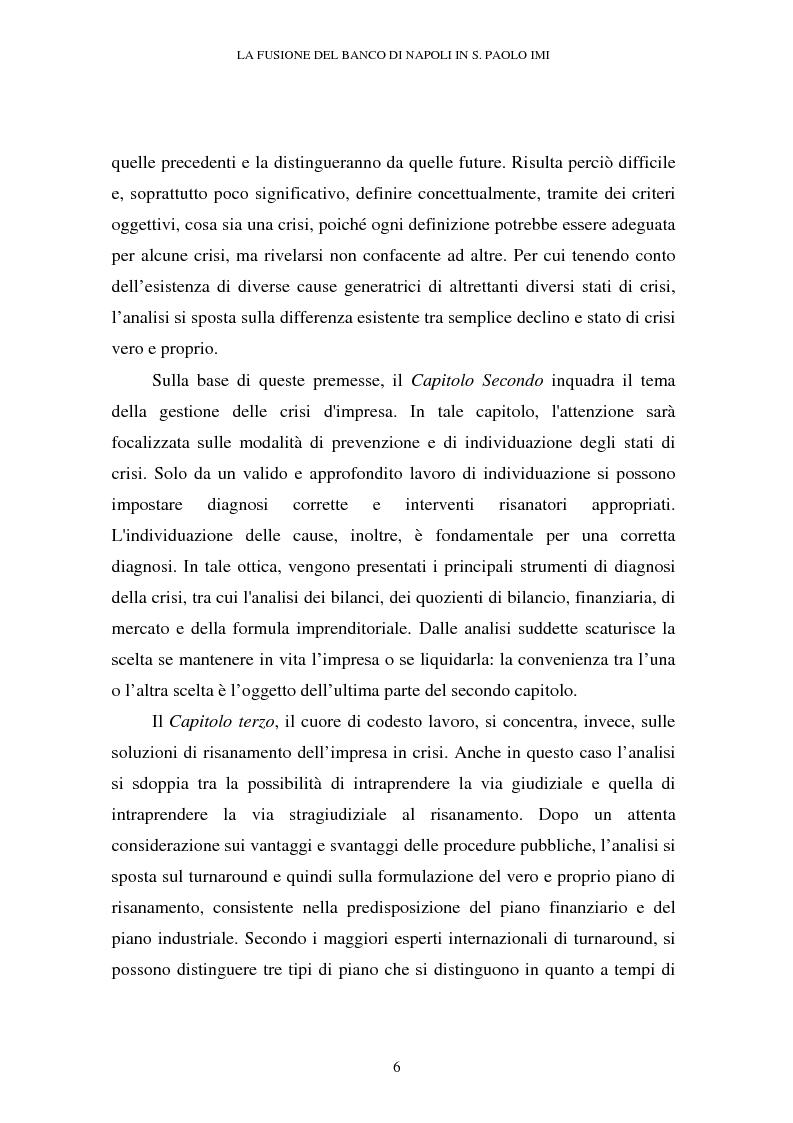 Anteprima della tesi: Le crisi d'impresa e le problematiche di risanamento. Il tormentato processo di ristrutturazione del Banco di Napoli, Pagina 2