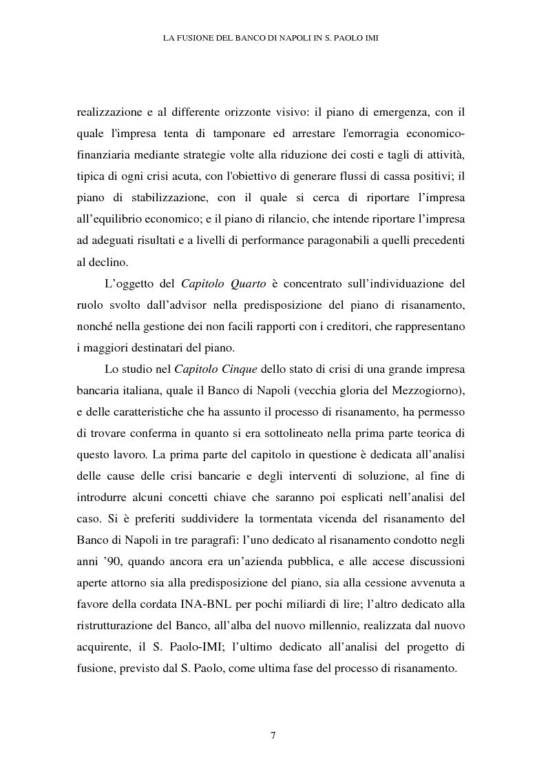 Anteprima della tesi: Le crisi d'impresa e le problematiche di risanamento. Il tormentato processo di ristrutturazione del Banco di Napoli, Pagina 3