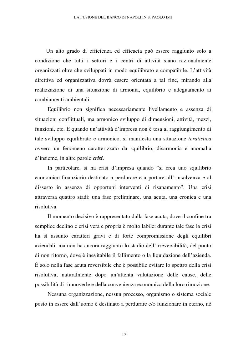 Anteprima della tesi: Le crisi d'impresa e le problematiche di risanamento. Il tormentato processo di ristrutturazione del Banco di Napoli, Pagina 9