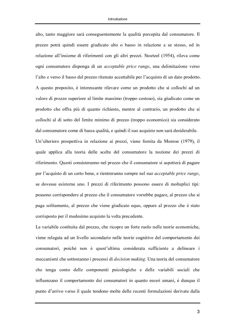 Anteprima della tesi: Il comportamento dei consumatori: la teoria economica e l'influenza dei fattori psicologici e sociali nelle dinamiche di formazione delle preferenze e nei processi decisionali, Pagina 3