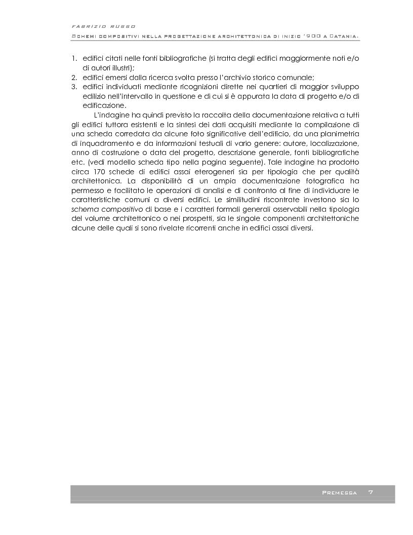 Anteprima della tesi: Schemi compositivi nella progettazione architettonica a Catania ad inizio '900, Pagina 4