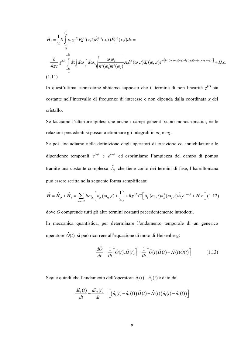 Anteprima della tesi: Studio di un dispositivo in guida d'onda a canale su substrato di niobato di litio periodicamente polarizzato per la generazione di fotoni quantisticamente correlati mediante fluorescenza parametrica, Pagina 12
