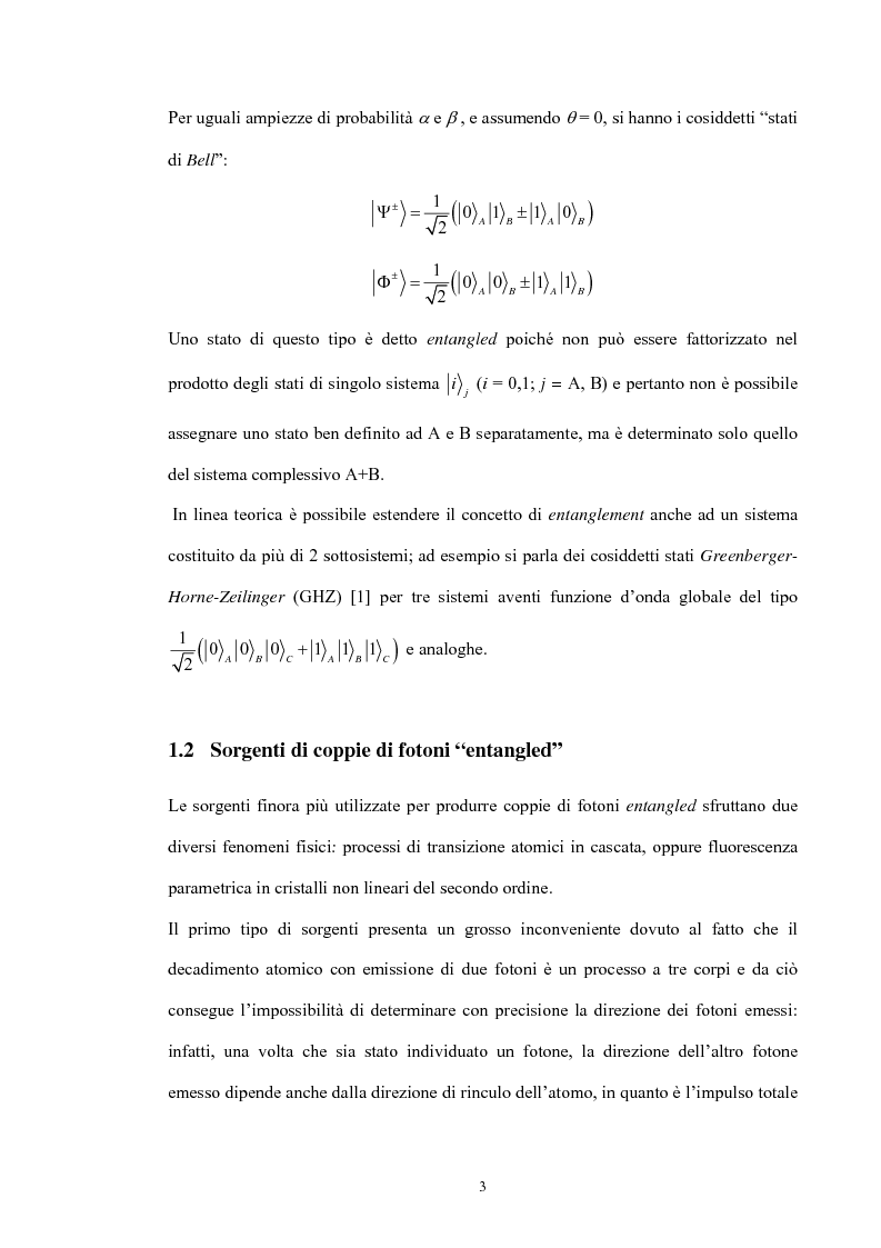 Anteprima della tesi: Studio di un dispositivo in guida d'onda a canale su substrato di niobato di litio periodicamente polarizzato per la generazione di fotoni quantisticamente correlati mediante fluorescenza parametrica, Pagina 6