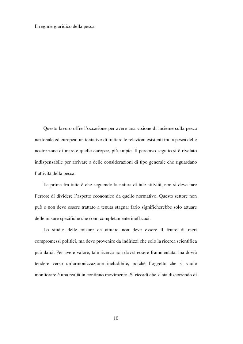 Anteprima della tesi: Il regime giuridico della pesca, Pagina 1