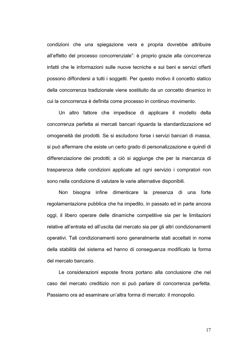 Anteprima della tesi: La concorrenza nel settore bancario, Pagina 14