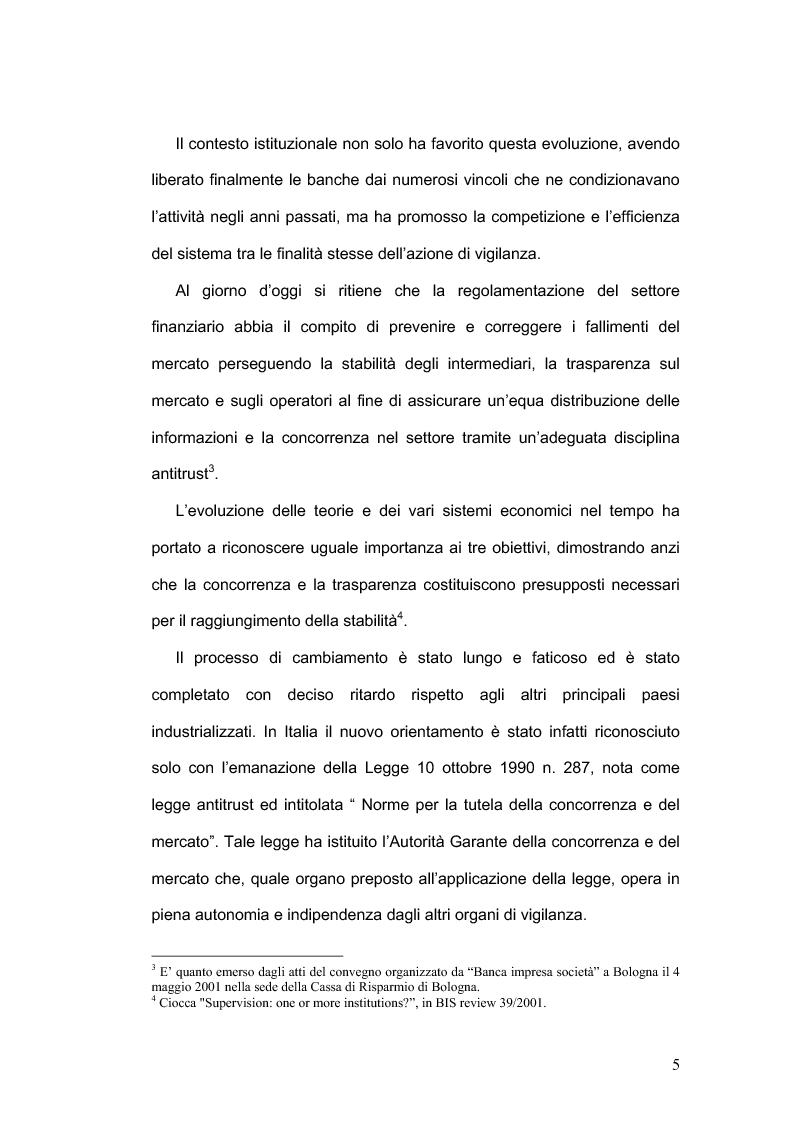 Anteprima della tesi: La concorrenza nel settore bancario, Pagina 2