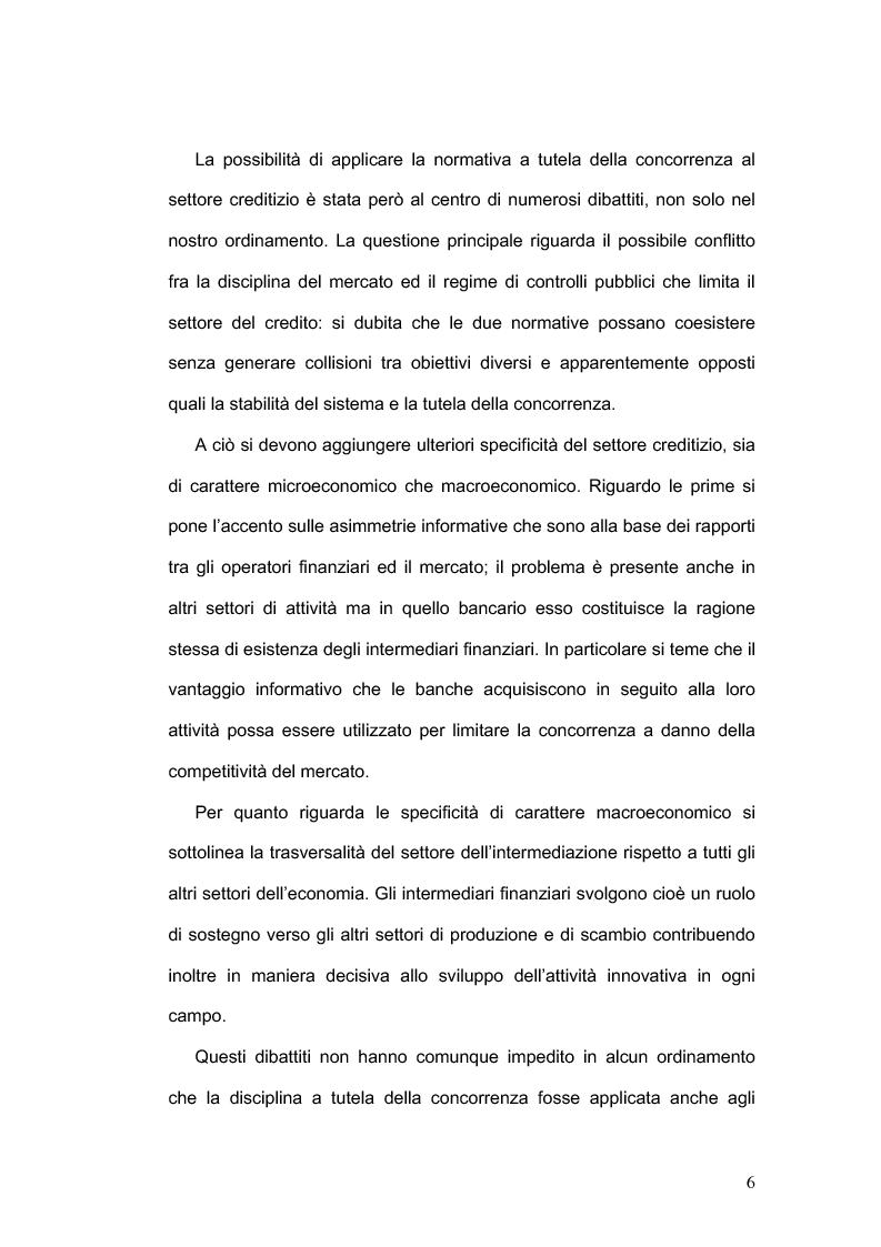 Anteprima della tesi: La concorrenza nel settore bancario, Pagina 3