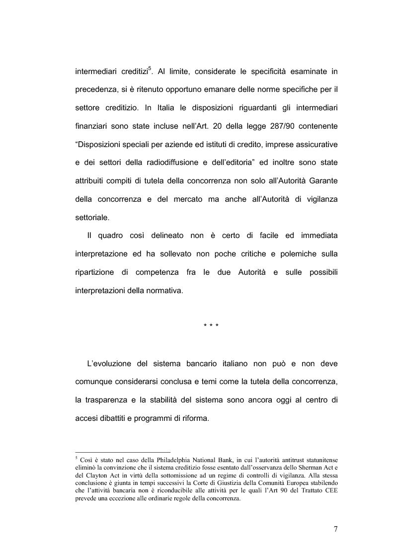 Anteprima della tesi: La concorrenza nel settore bancario, Pagina 4