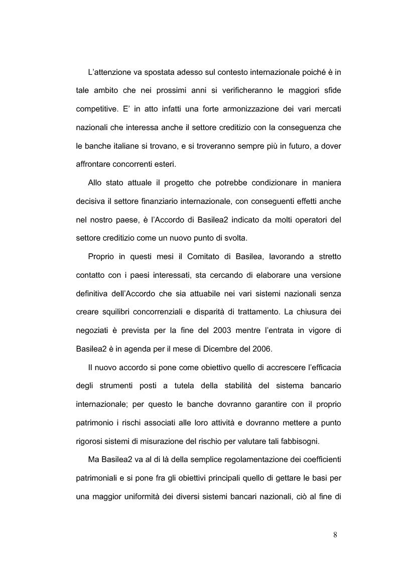 Anteprima della tesi: La concorrenza nel settore bancario, Pagina 5