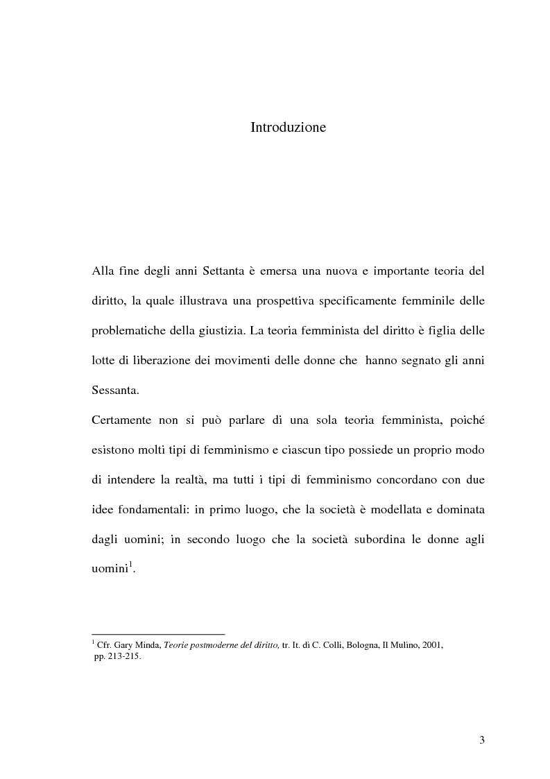 Anteprima della tesi: La prospettiva femminile dei diritti, Pagina 1
