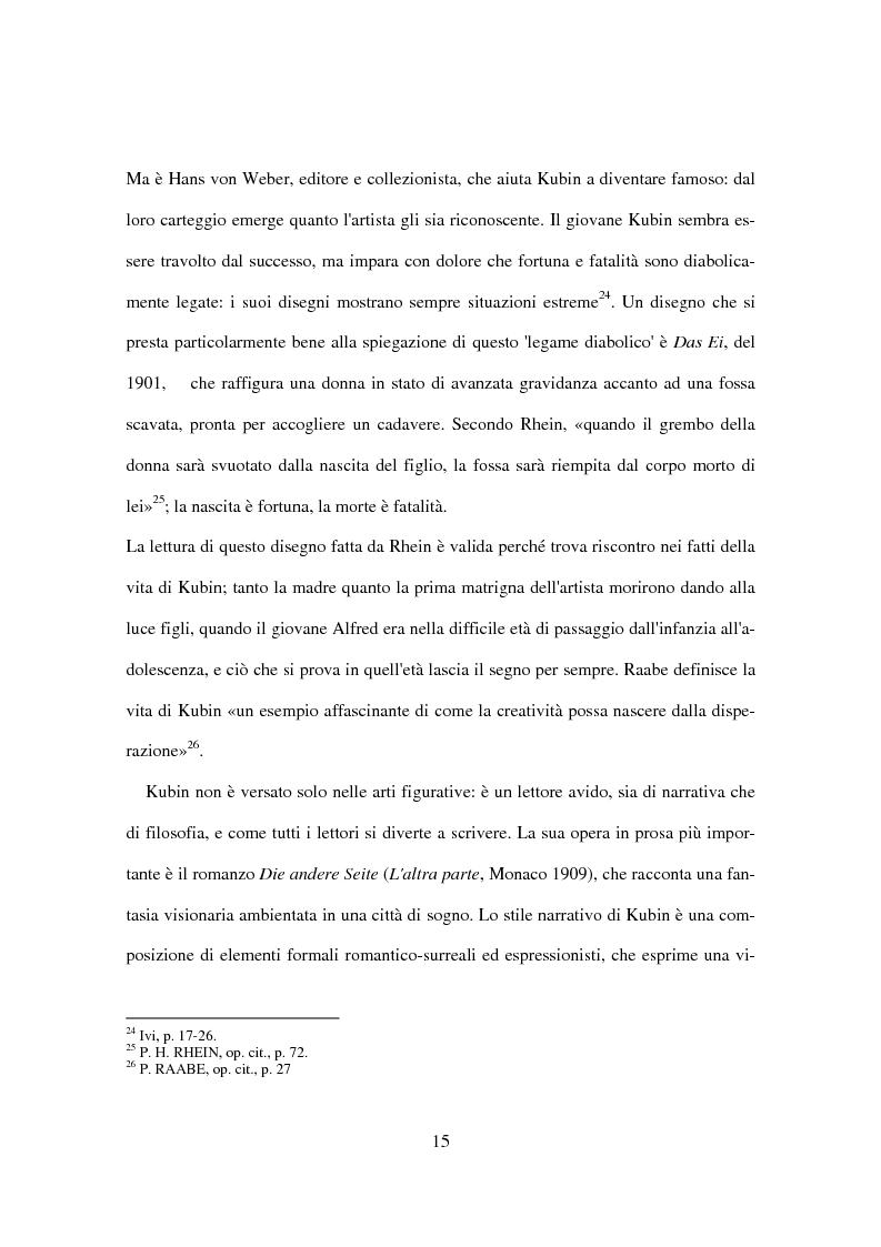 Anteprima della tesi: Utopia e distopia in ''Die andere Seite'' di Alfred Kubin, Pagina 13