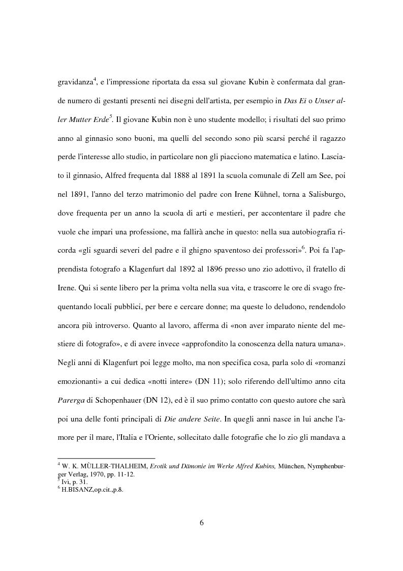 Anteprima della tesi: Utopia e distopia in ''Die andere Seite'' di Alfred Kubin, Pagina 4