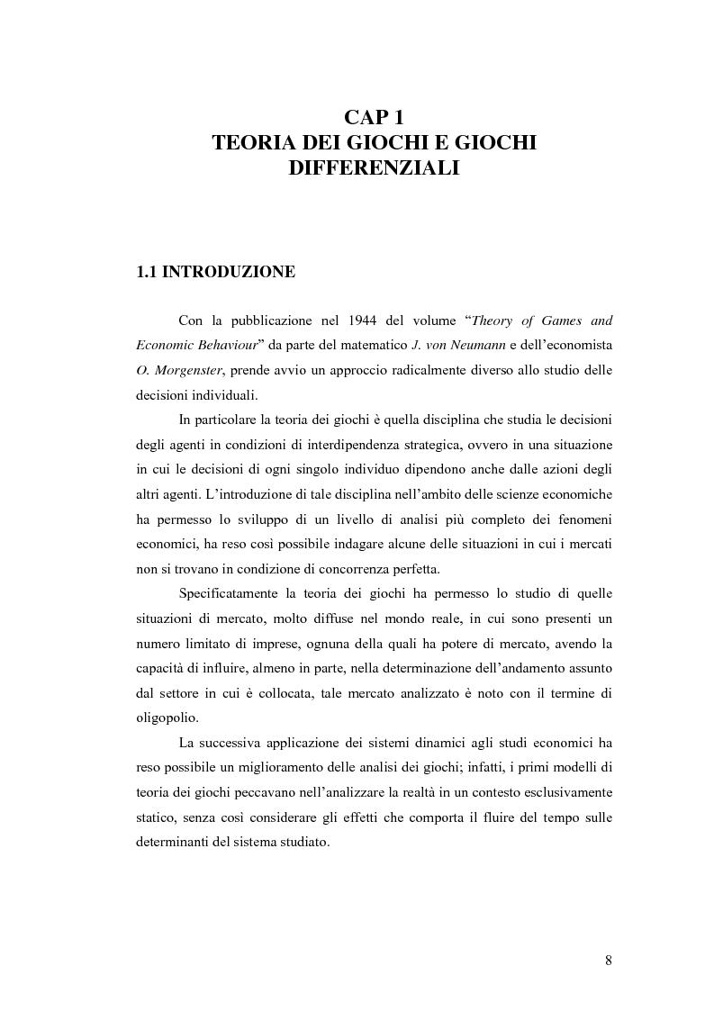 Anteprima della tesi: Giochi differenziali di economia aperta, Pagina 5