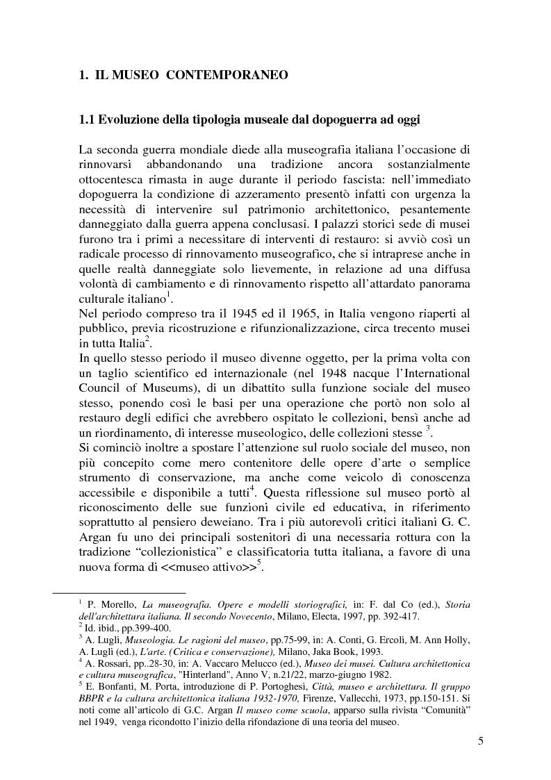 Anteprima della tesi: La Fondazione Sandretto Re Rebaudengo per l'arte: un esempio di museo d'arte contemporanea in Italia, Pagina 5