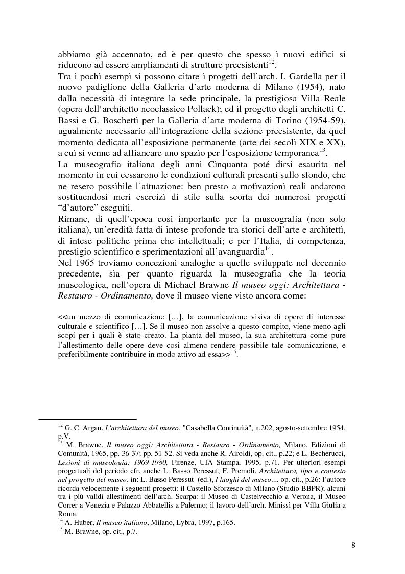 Anteprima della tesi: La Fondazione Sandretto Re Rebaudengo per l'arte: un esempio di museo d'arte contemporanea in Italia, Pagina 8