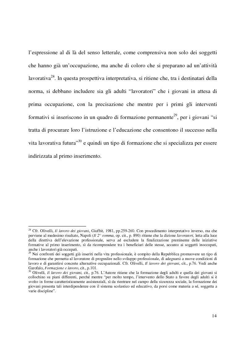 Anteprima della tesi: Formazione e contratto di lavoro, Pagina 10