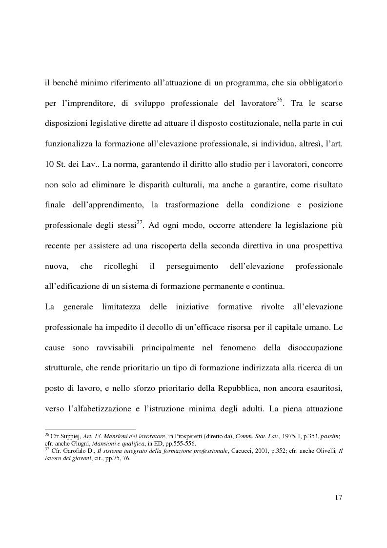 Anteprima della tesi: Formazione e contratto di lavoro, Pagina 13