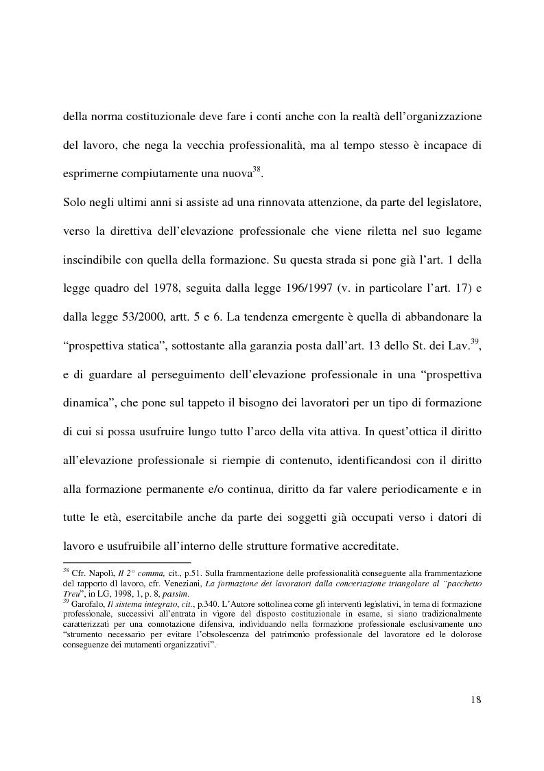 Anteprima della tesi: Formazione e contratto di lavoro, Pagina 14
