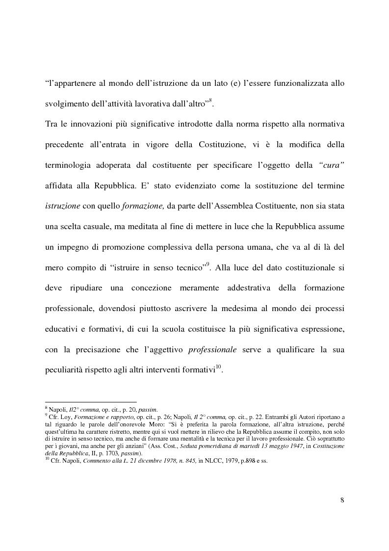 Anteprima della tesi: Formazione e contratto di lavoro, Pagina 4
