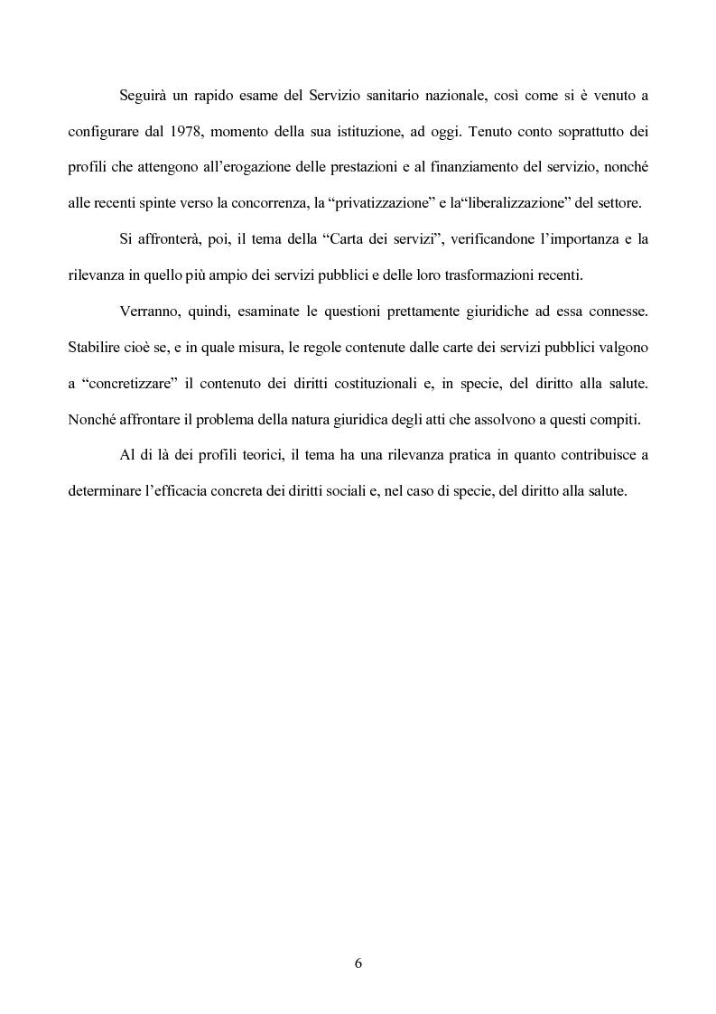 Anteprima della tesi: I diritti sociali nel settore sanitario, Pagina 2