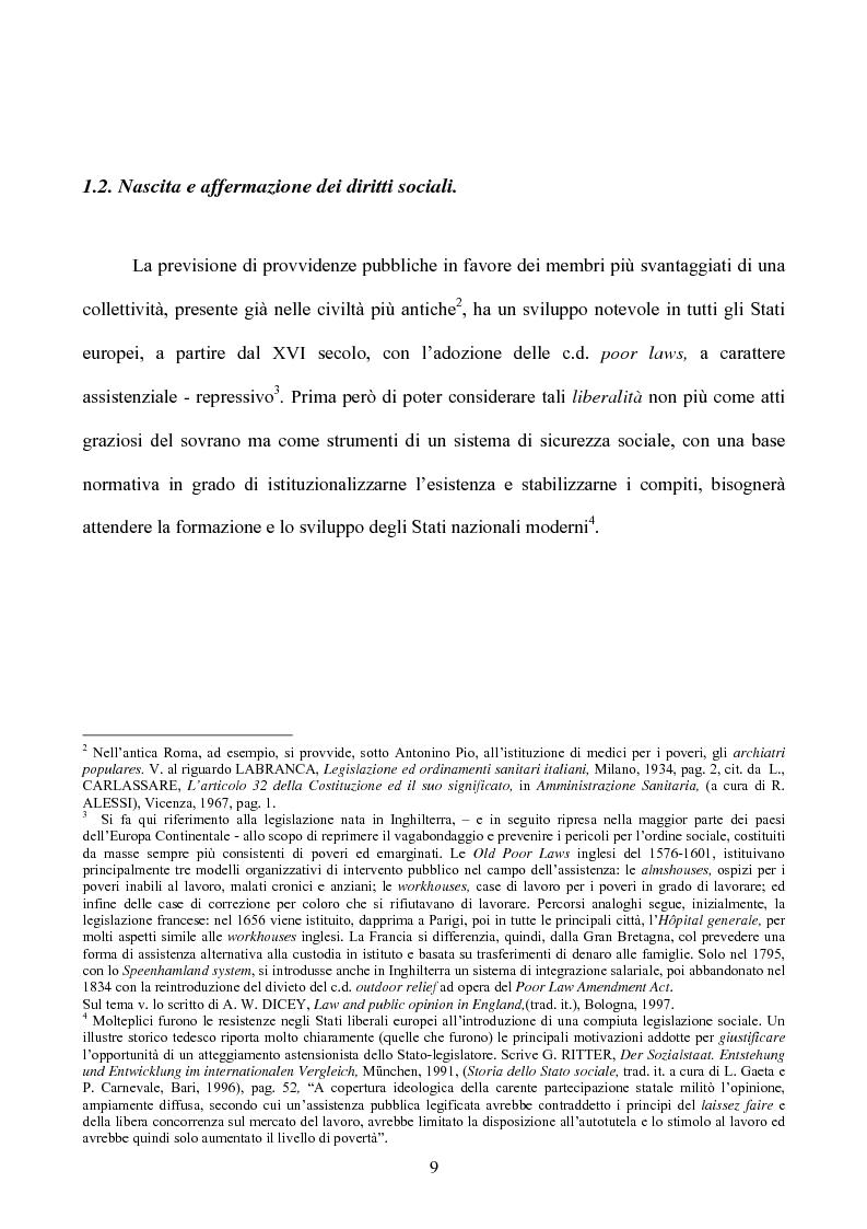 Anteprima della tesi: I diritti sociali nel settore sanitario, Pagina 5