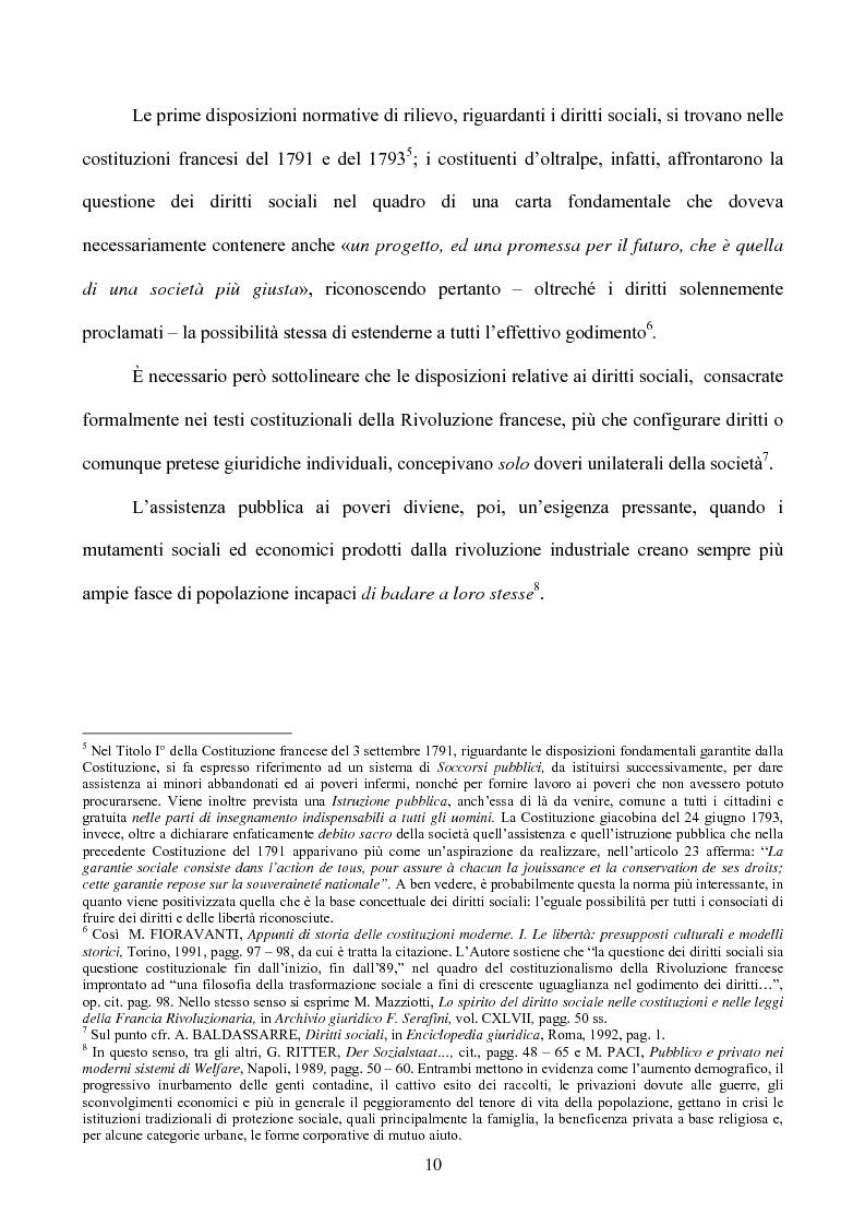 Anteprima della tesi: I diritti sociali nel settore sanitario, Pagina 6