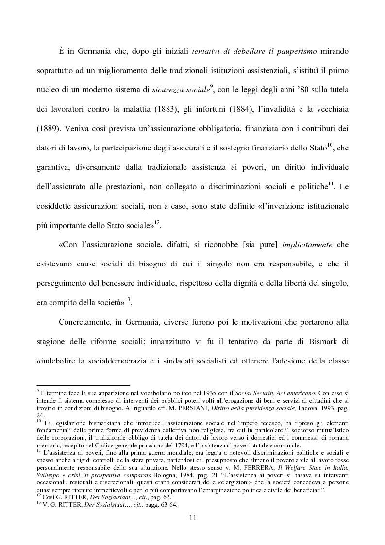 Anteprima della tesi: I diritti sociali nel settore sanitario, Pagina 7