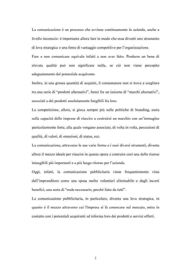 Anteprima della tesi: La comunicazione di marketing, Pagina 2