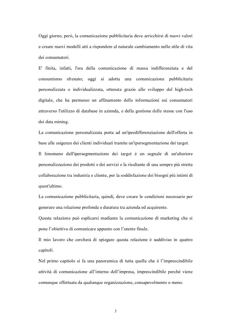 Anteprima della tesi: La comunicazione di marketing, Pagina 3