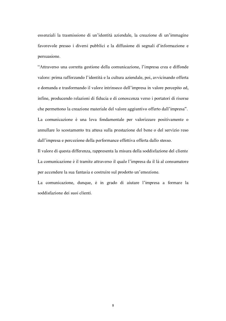 Anteprima della tesi: La comunicazione di marketing, Pagina 8