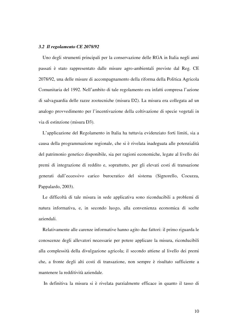 Anteprima della tesi: Aspetti economici della tutela delle razze zootecniche ragusane a rischio di estinzione, Pagina 10
