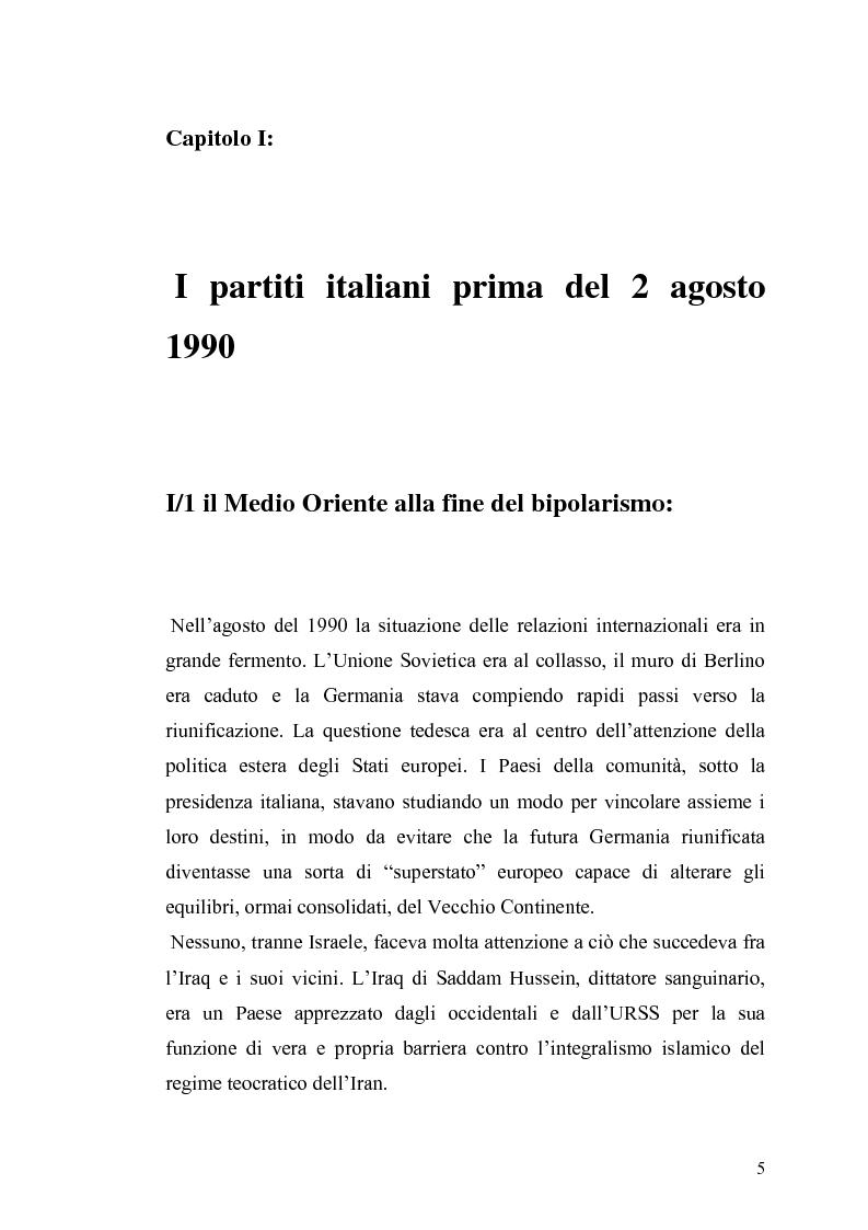 Anteprima della tesi: Il governo e i partiti italiani di fronte alla guerra del Golfo, Pagina 3