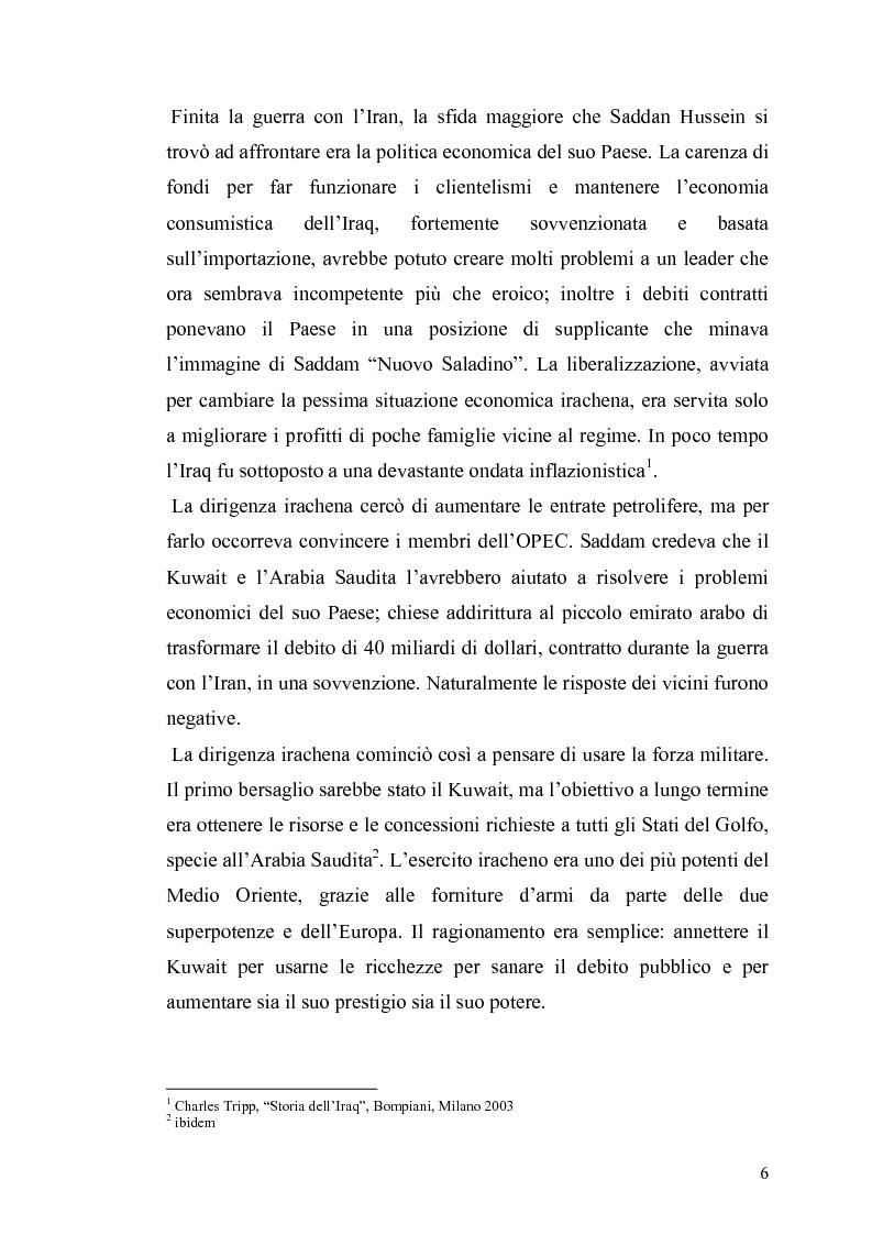 Anteprima della tesi: Il governo e i partiti italiani di fronte alla guerra del Golfo, Pagina 4