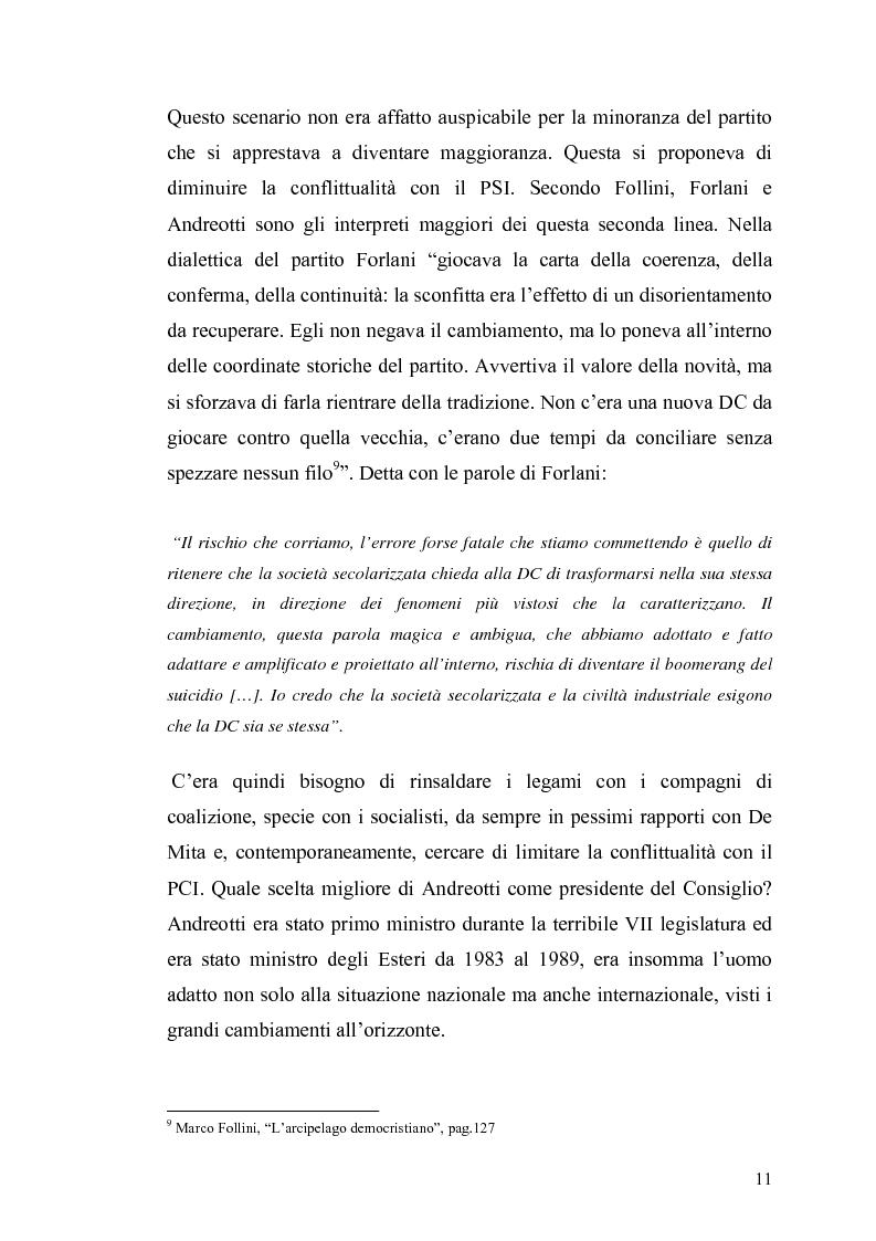 Anteprima della tesi: Il governo e i partiti italiani di fronte alla guerra del Golfo, Pagina 9