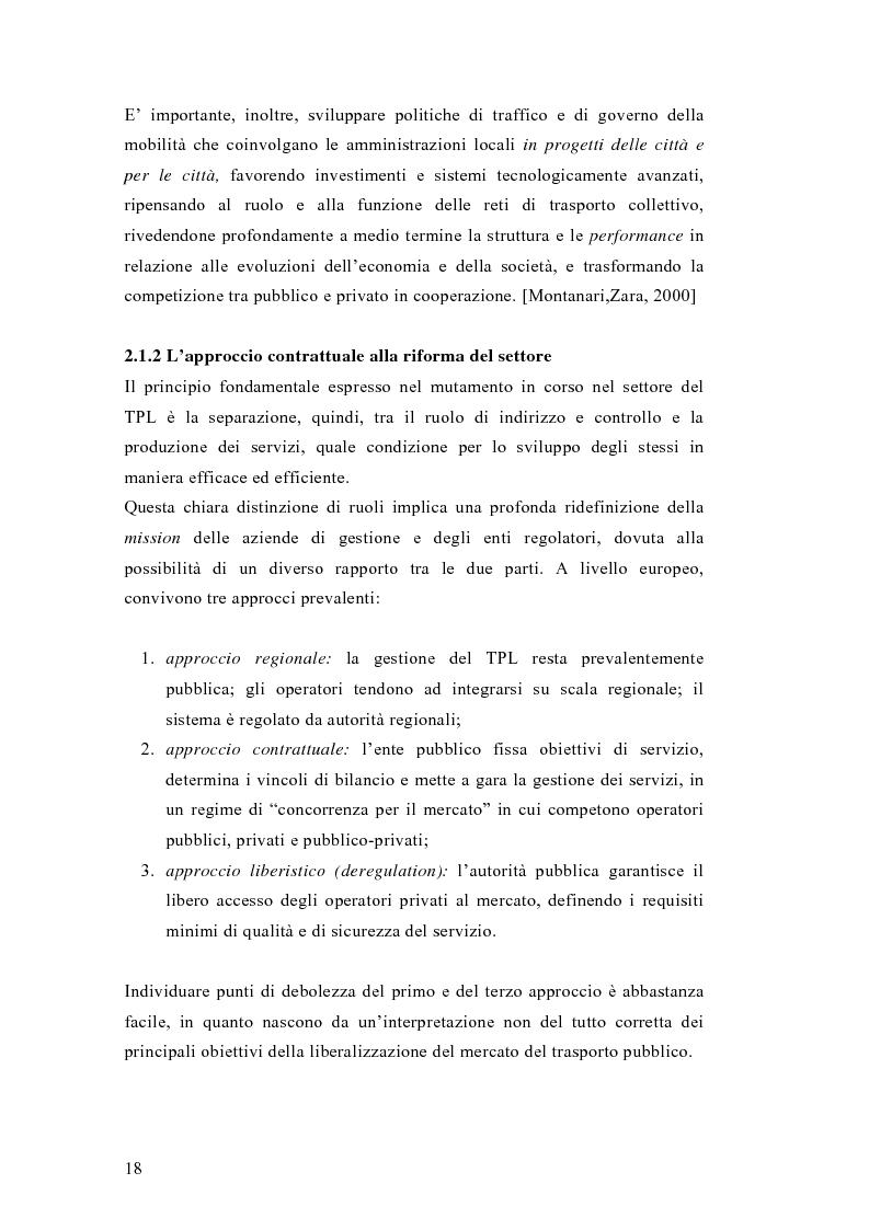 Anteprima della tesi: Liberalizzazione del mercato e cambiamento strategico ed organizzativo nel settore del trasporto pubblico locale, Pagina 13