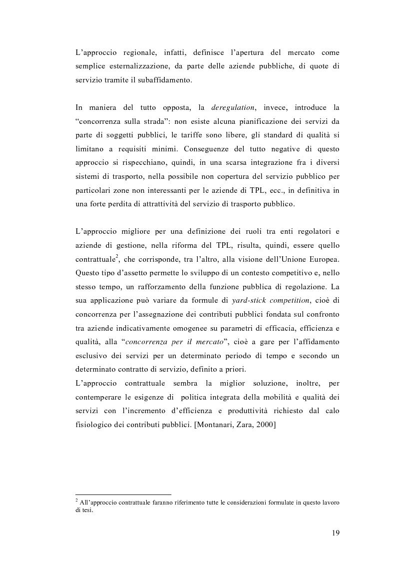 Anteprima della tesi: Liberalizzazione del mercato e cambiamento strategico ed organizzativo nel settore del trasporto pubblico locale, Pagina 14