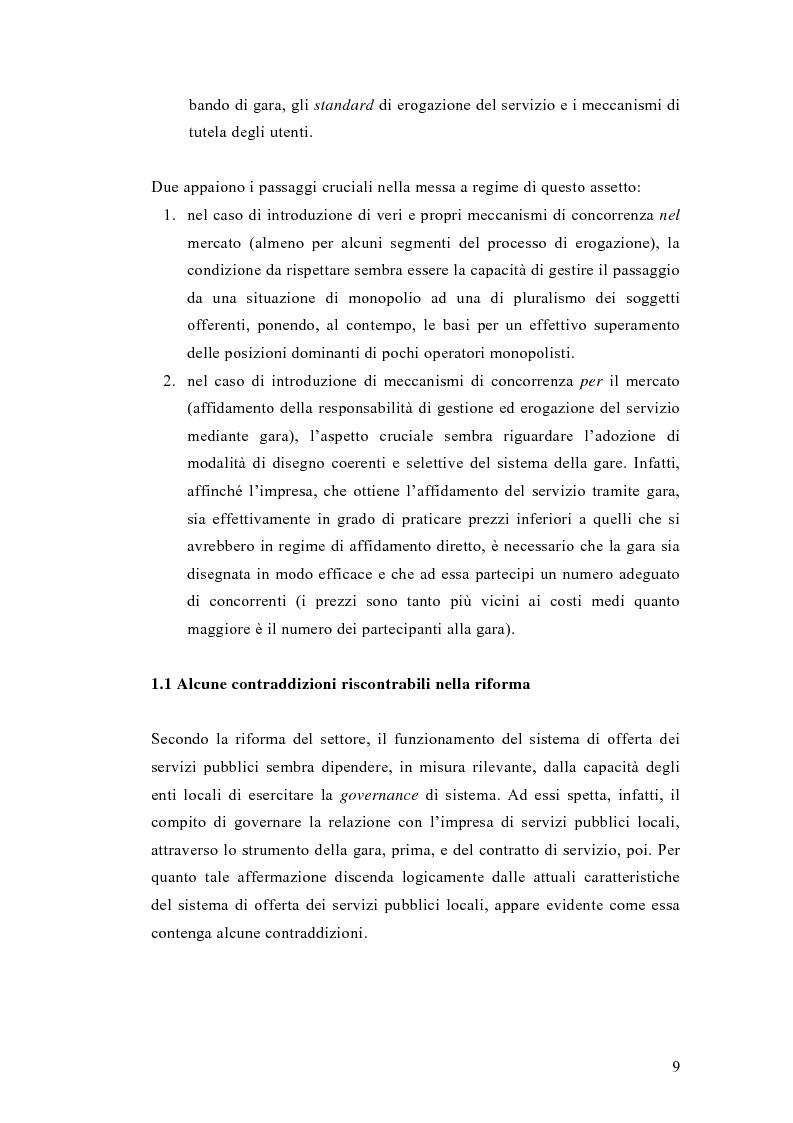 Anteprima della tesi: Liberalizzazione del mercato e cambiamento strategico ed organizzativo nel settore del trasporto pubblico locale, Pagina 4