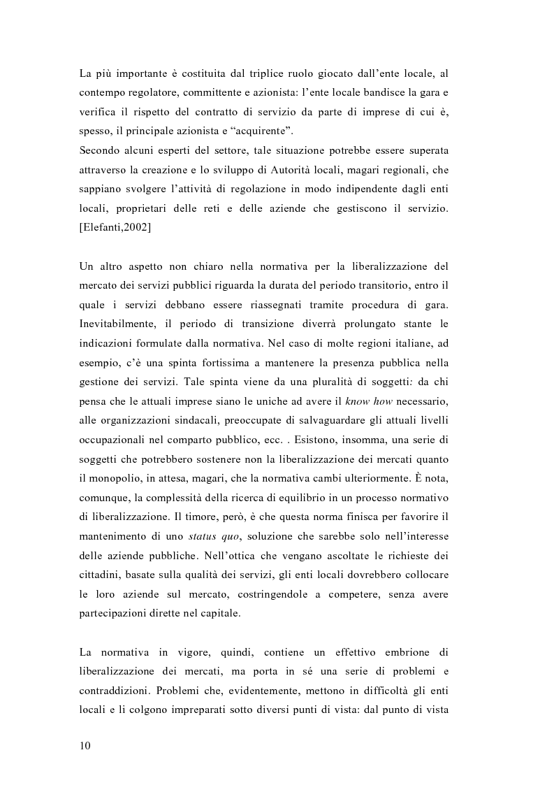 Anteprima della tesi: Liberalizzazione del mercato e cambiamento strategico ed organizzativo nel settore del trasporto pubblico locale, Pagina 5