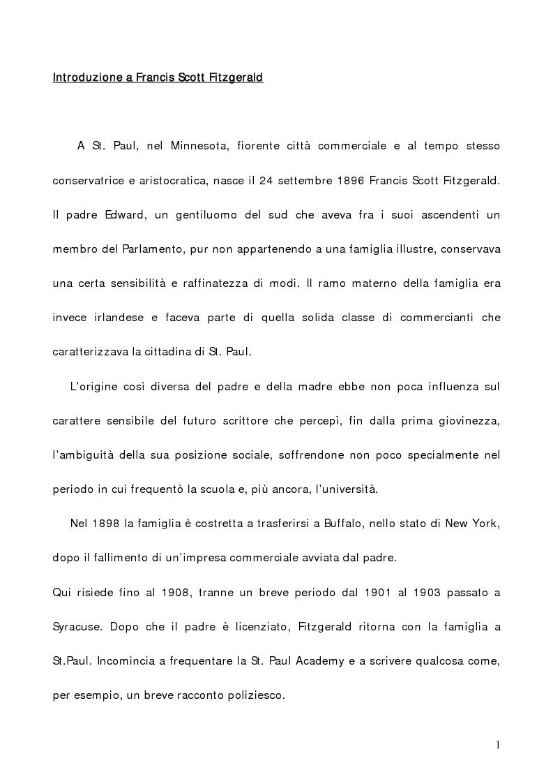 Anteprima della tesi: L'illusione infranta di Fitzgerald in ''The Great Gatsby'', Pagina 1
